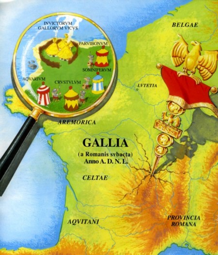 mapa galia